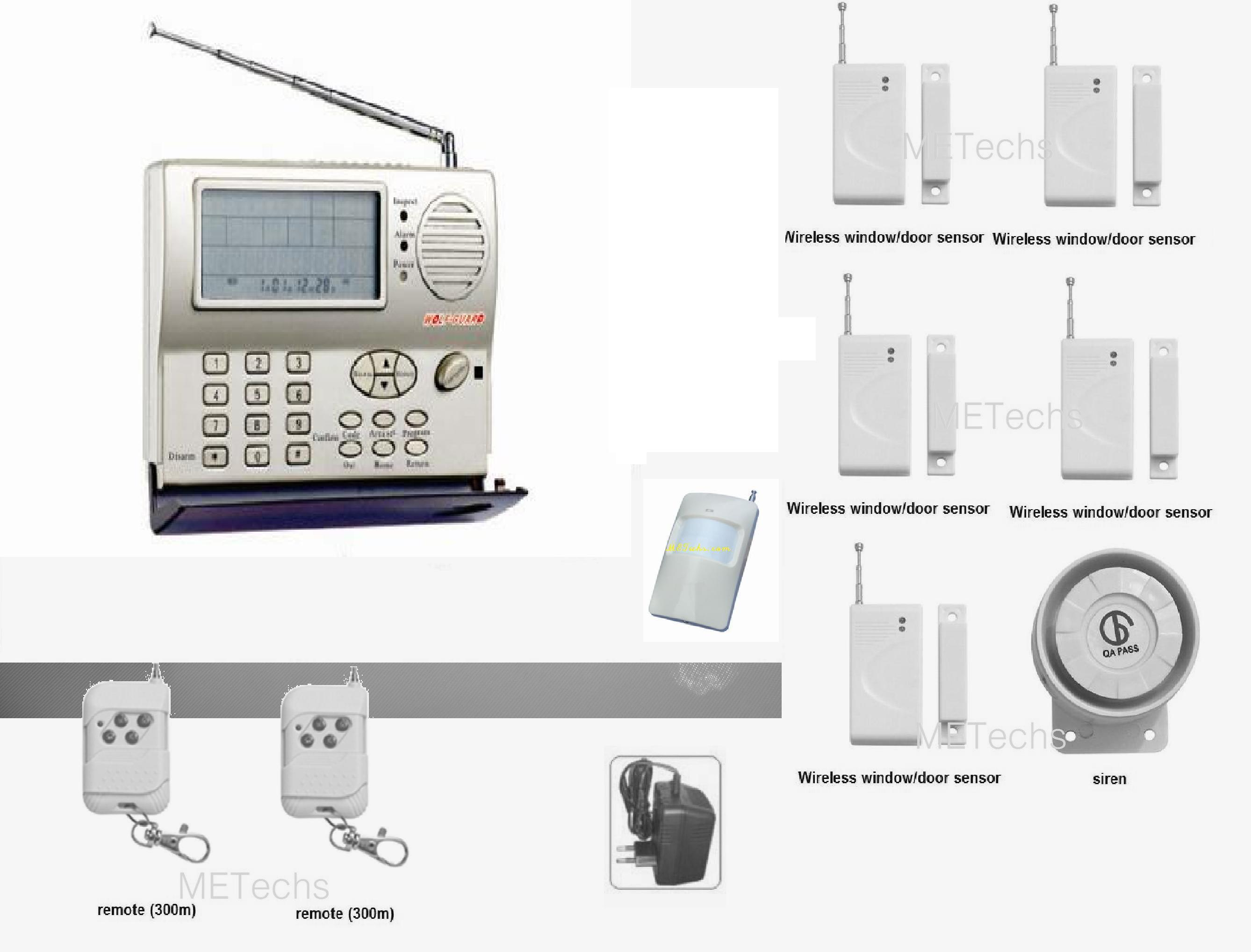 Wired and Wireless Home Security Alarm System Auto Dialer