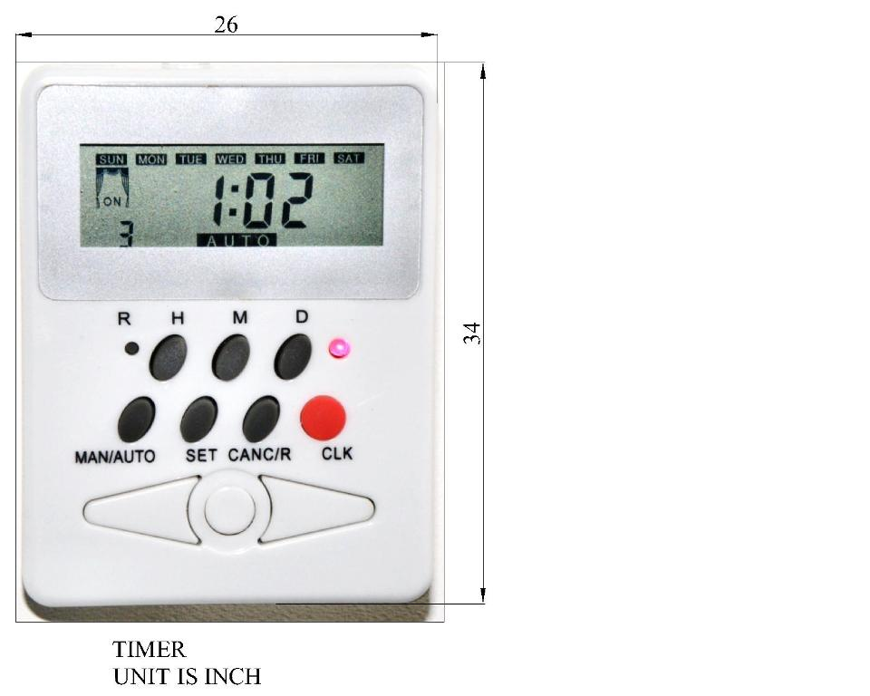 Programmable Timer for Electric Roller Shade or Blind Rods