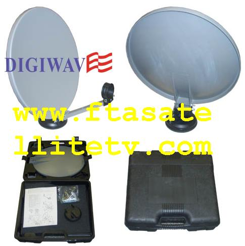 "13.5"" Portable Satellite Dish KIT w/ Carry Case"